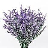 ManYing 10 Ramas Flores Artificiales Lavanda, Falsa Lavanda Romántica Flor de Plástico para la Decoración de La Boda del Jardín del Hogar (Lavanda)