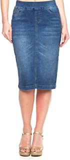 pencil jean skirt
