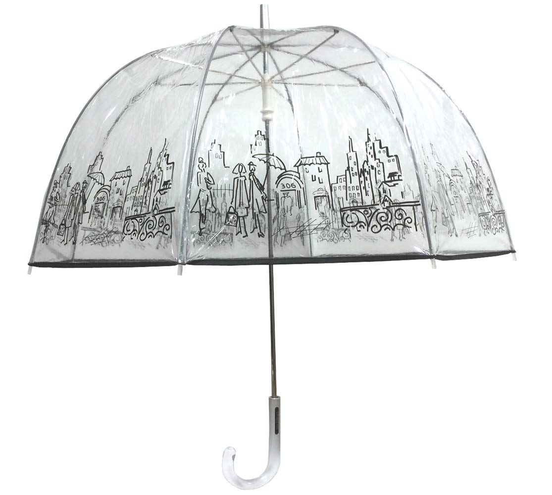London Fog Clear Umbrella City