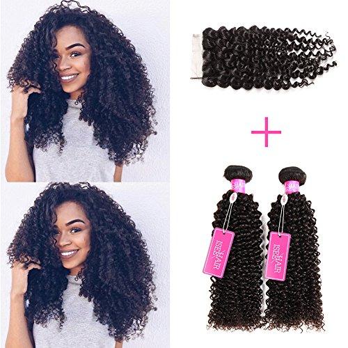 ISEE pelo virgen de Malasia de profundidad rizado Jerry rizado Cabello humano 3Bundles, 100% en estado natural humano rizado extensiones de pelo natural negro puede ser teñido