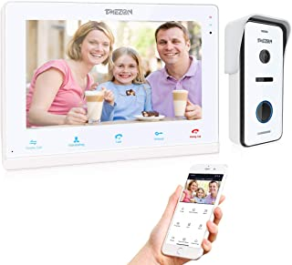 """TMEZON 10"""" IP WiFi Video Door Phone Doorbell Video Intercom System Montion Detection Entry System with 1x720P AHD CCTV Cam..."""