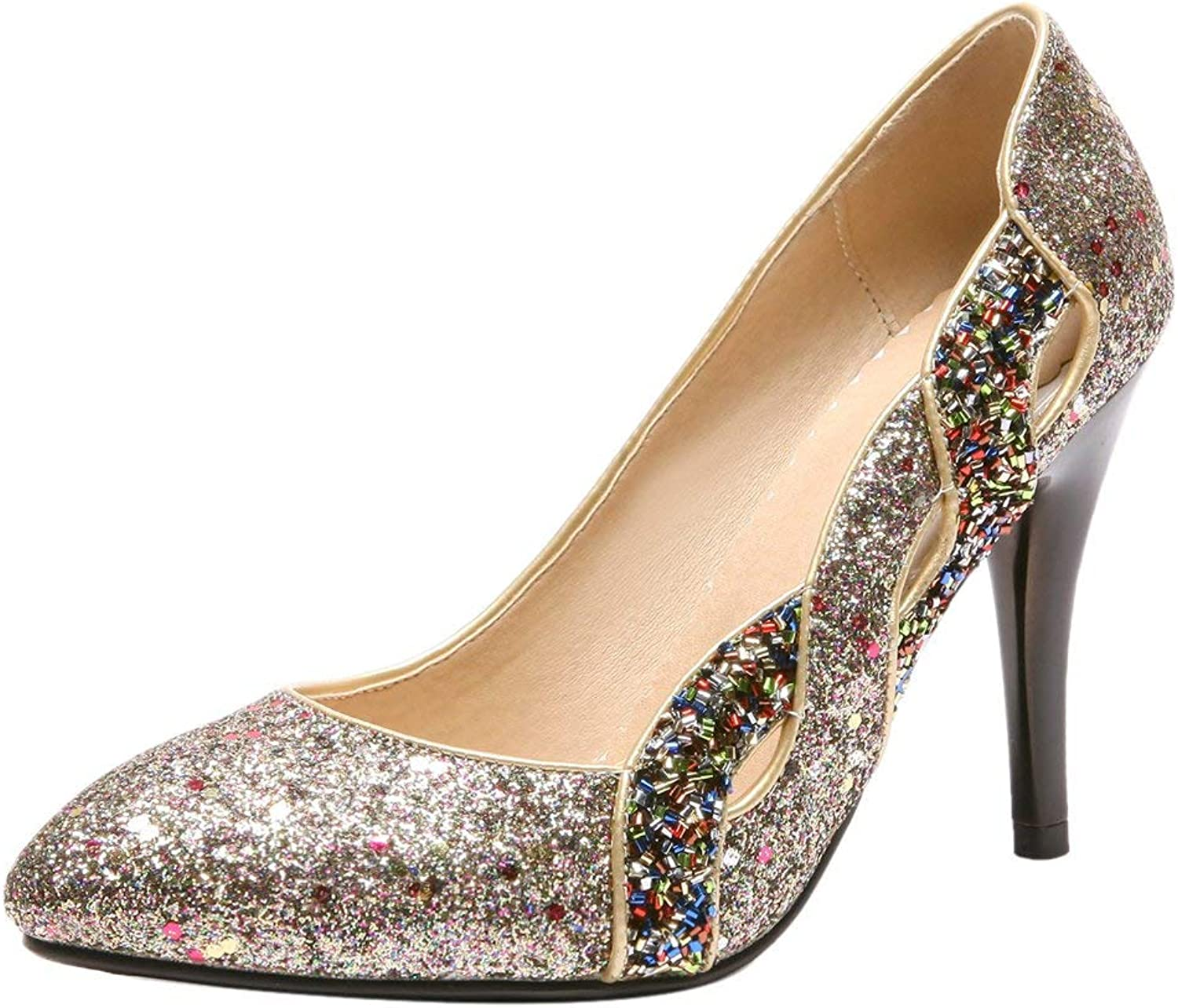 Unm Women Fashion High Heel Pumps