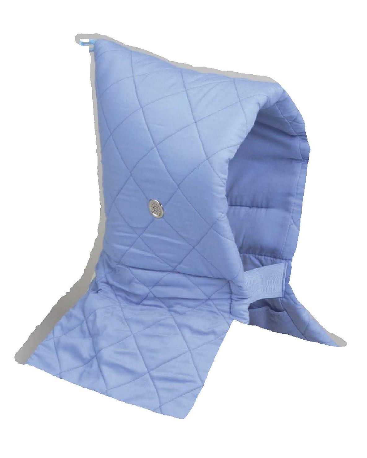 圧縮する評価するお金ゴム日本防炎協会認定品 防災頭巾 Kタイプブルー 小学校低学年以上 約46×26cm 90006