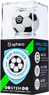 Sphero M001SRW Mini Soccer: App-Enabled Programmable Robot Ball - STEM Educational Toy for Kids Ages 8 & Up - Drive, Game & Code with Play & Edu App
