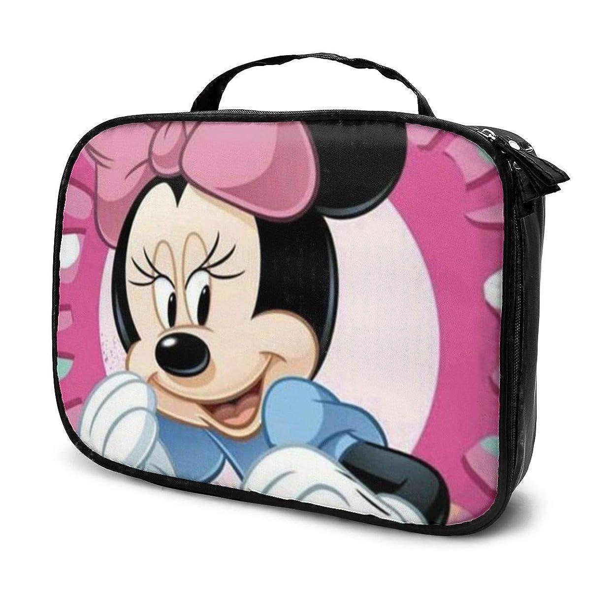 からに変化する知覚的炭素Daituかわいいミニーマウス 化粧品袋の女性旅行バッグ収納大容量防水アクセサリー旅行