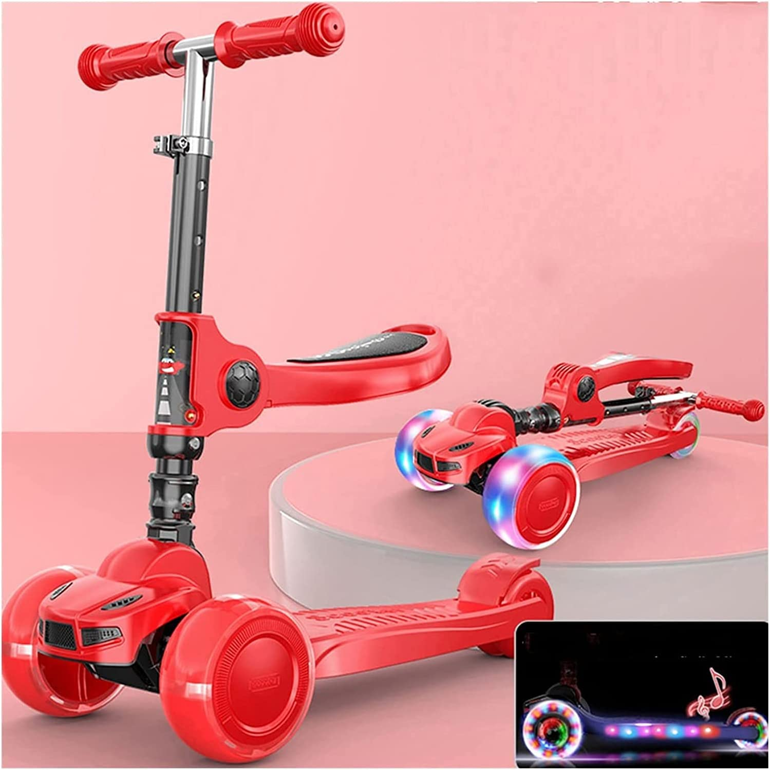 Scooters for Kids Toddler Scooter with 3 Kansas City Mall LED Flashing Price reduction Wheel Whee