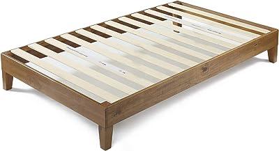 Zinus (ジヌス) すのこ ベッド フレーム シングル 30cm 木製 Deluxe Wood Platform【日本正規品】(設置・組立・引き取りあり ※一部地域のみ)