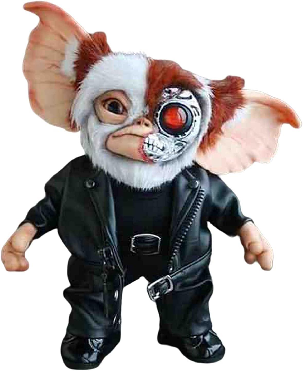 HOUHOUYIBA Muñeca Creativa Hecha a Mano, Monstruo de Peluche, Criatura artística de Gizmo de Fieltro en Miniatura, Linda muñeca Gremlins Monster Horror Mogwai (Muñeca de Cuero)