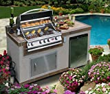 Cal Flame  - Outdoor Kitchen Island e6004 with 4-Burner Built in Grill