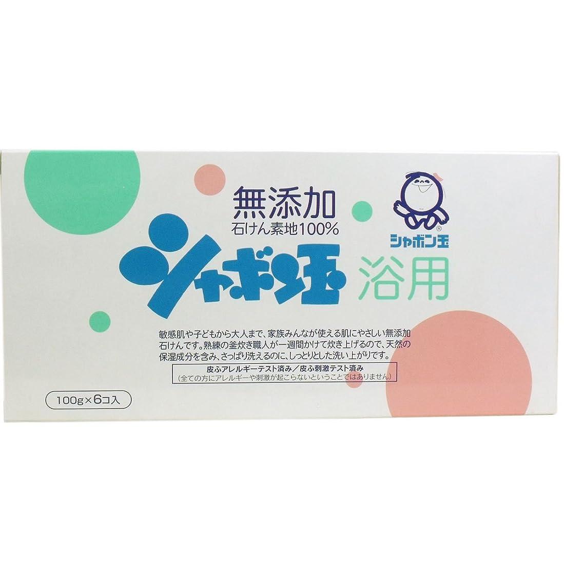 重くする予防接種ゲームシャボン玉 浴用石けん 100g×6個入