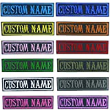 MVCEN Custom Name Patches, Personalized Military Patches 2 Pcs, Custom Embroidery Name Tag, Tactical Moral Name Patch for Camouflage Uniform, Jacket, Hoodie, Backpacks, Vest