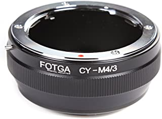 FocusFoto FOTGA Adapter Ring for Contax/Yashica C/Y CY Mount Lens to Olympus PEN and Panasonic Lumix Micro Four Thirds (MFT, M4/3) Mount Mirrorless Camera Body