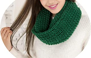 2018 Fashion New Unisex Winter scarf knitted Scarves Collar Neck Warmer woman's Crochet Ring Spain