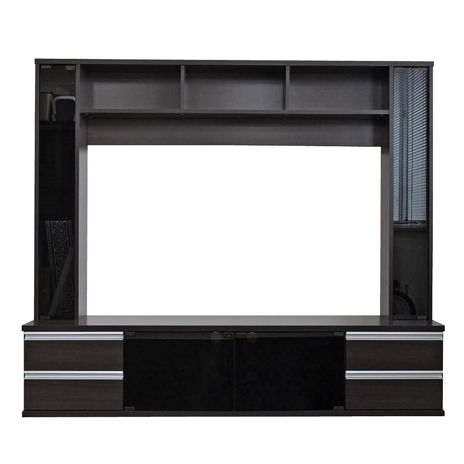 参照するうっかり意欲テレビ台 ハイタイプ 壁面家具 リビング壁面収納 60インチ対応 TV台 テレビラック ゲート型AVボード 180cm幅 TCP364-DBR J-Supply