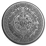 2 oz .999 Aztec Calendar Stone, Eagle Warrior...
