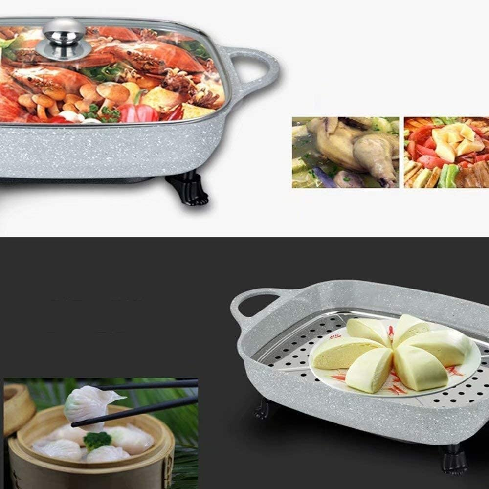 ST BBQ Hot Pot Récipient Maifanshi/Commercial Hot Pot Barbecue Un Pot Pot De Poisson Grillé Multi-Usage Grande Capacité pour 5-10 Personnes,Grey Black
