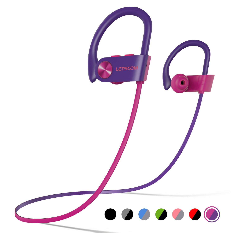LETSCOM Headphones Waterproof Sweatproof Cancelling