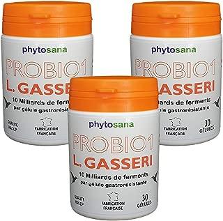 Cure de 3 mois • 16,47 € par mois • Lactobacillus Gasseri 34 Milliards UFC/g • 90 gél. gastro-résistantes de 300 mg / 10 Mds UFC • Poids, humeur, santé… et si tout se jouait dans notre intestin ?