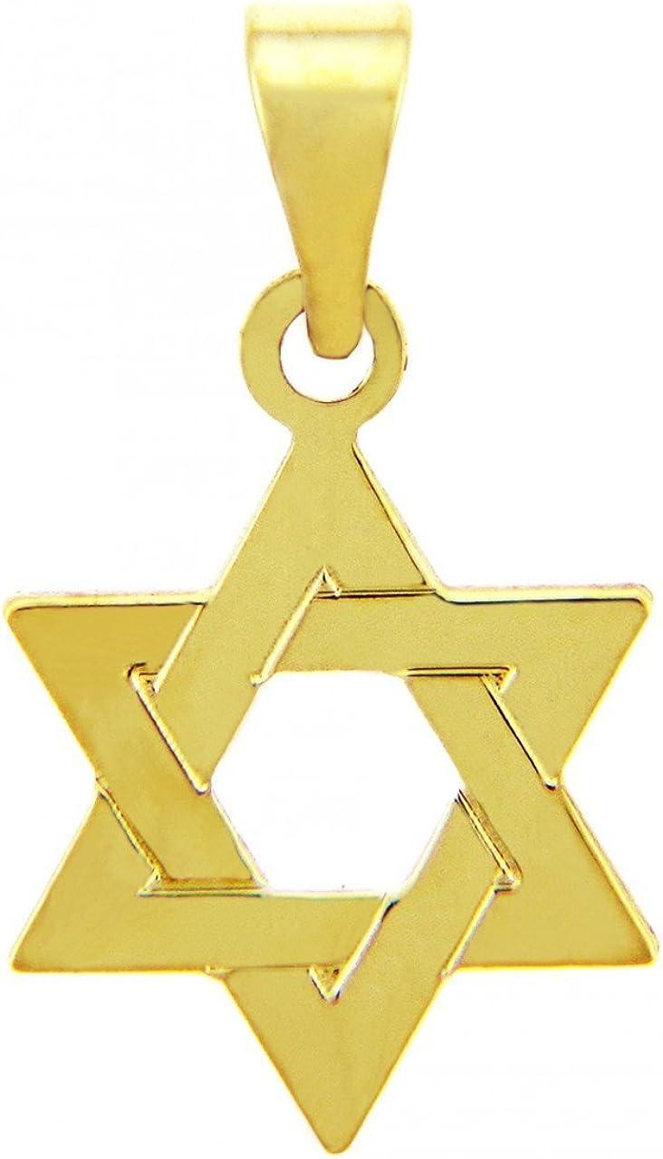 14k Gold Jewish Star of David Pendant