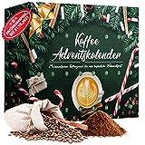 Adventskalender 2021 Kaffee mit 24 Türchen á 20g, 480g voller himmlischen Kaffeegenusses für eine besinnliche Weihnachtszeit, Weihnachtskalender Geschenkset zur Weihnacht- und Adventszeit