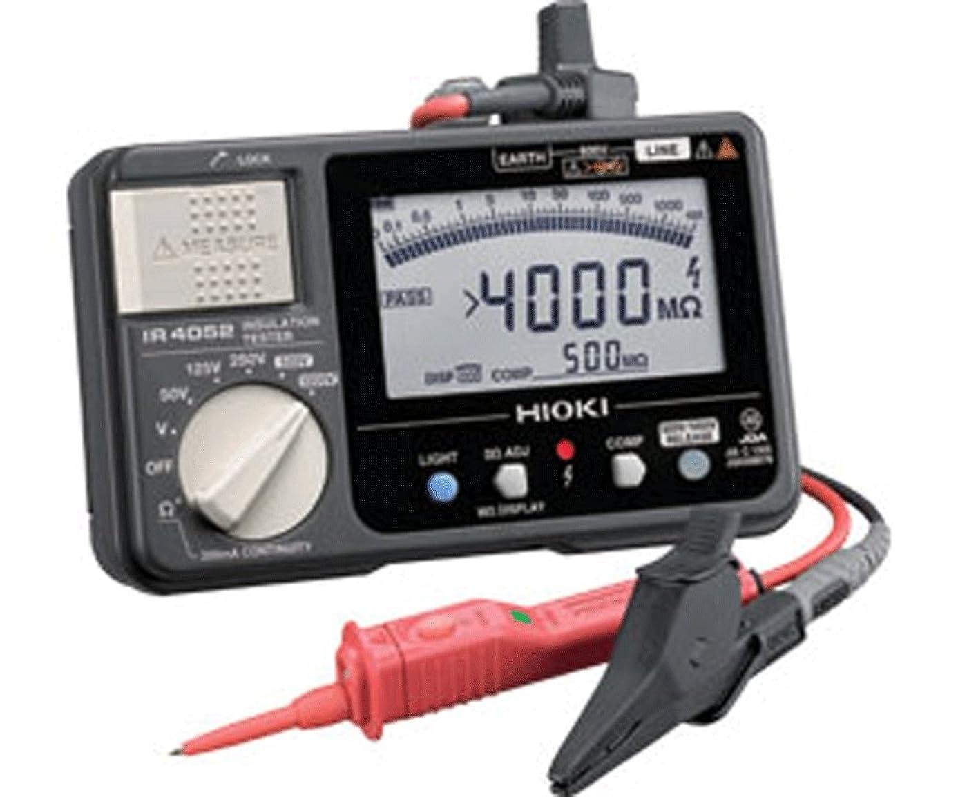 ダイエット花婿表示HIOKI(日置電機) IR4052-11 5レンジ デジタル絶縁抵抗計(スイッチ付リード9788-01付)