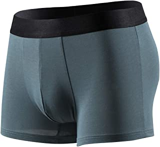 ALLIKING Men's Boxer Underwear Breathable U Convex Panties Sexy Men Underpants - Viscose