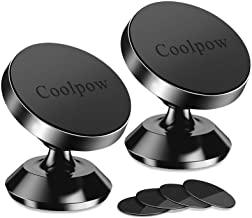 [ 2 Pack ] Magnetic Phone Mount, [ Super Strong Magnet ] [ with 4 Metal Plate ] car Magnetic Phone Holder, [ 360° Rotation...