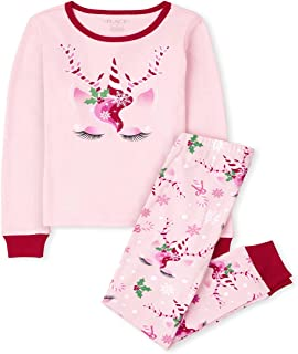 The Children's Place Kids' Holiday 2 Piece Snug Fit Cotton Pajamas