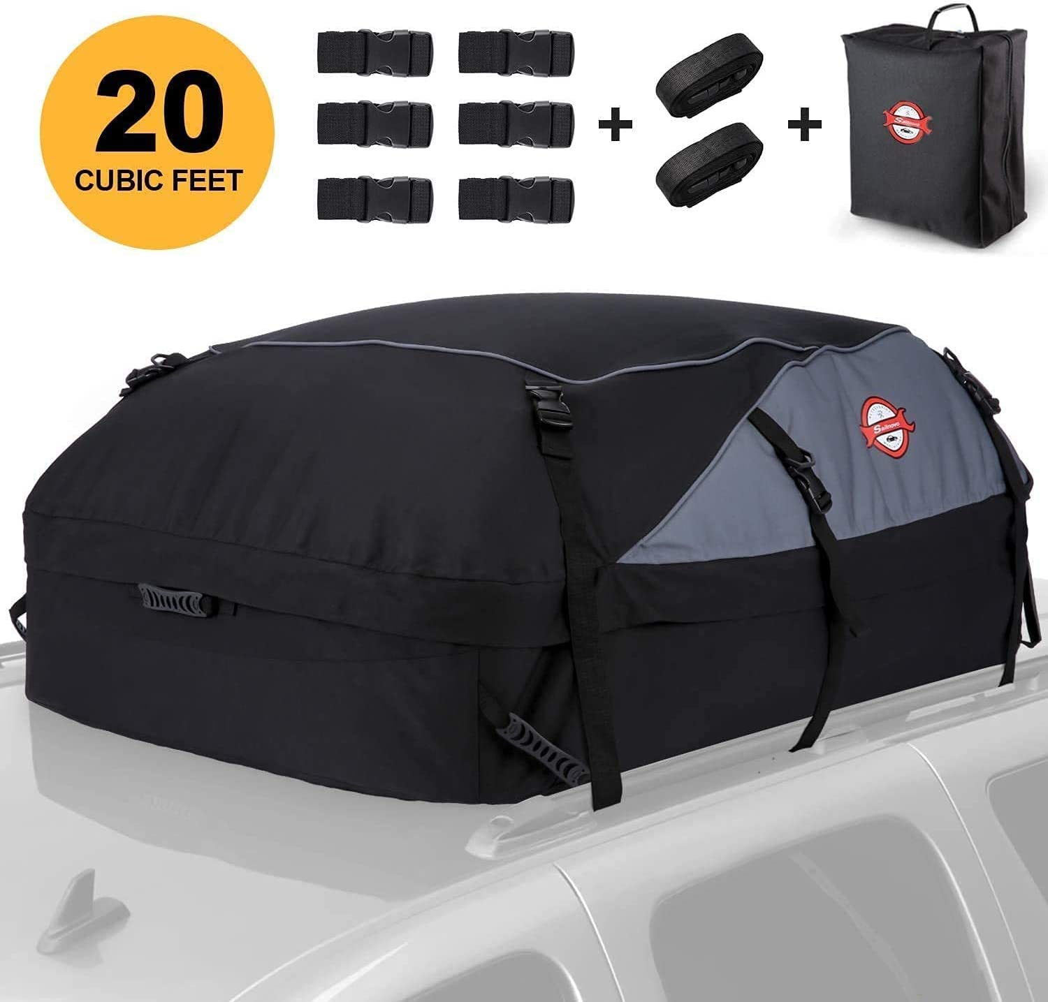 Car Roof Bag Attention Miami Mall brand Cargo Carrier Rooftop Cubic 20 Feet Waterproof