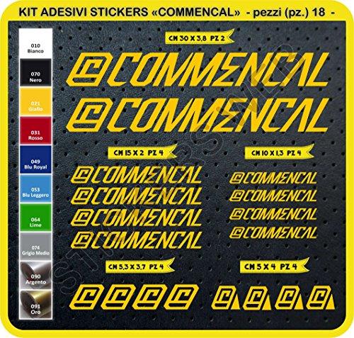 Adesivi Bici COMMENCAL 2015 Kit Adesivi Stickers 18 Pezzi -Scegli SUBITO Colore- Bike Cycle pegatina cod.0301 (Giallo cod. 021)
