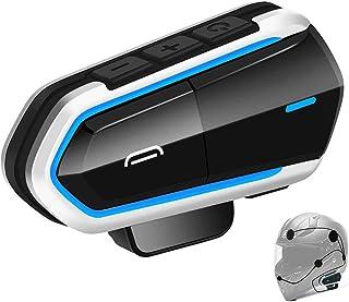 Audífonos inalámbricos para motocicleta, casco de Baile, radio FM/manos libres, respuesta automática/número de teléfono entrante/música estéreo HD