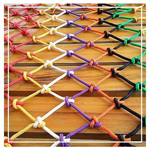 ZGQSW Outdoor-Balkon Schutznetz, Nylon Seilnetz Kindertreppe Isolation Seilnetz Zaunnetz Gartendekoration Netz Sicherheitsnetz Weben Netz Hängematte Schaukelnetz 2x5m (Size : 1 * 3m)