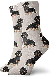 BK Creativity, Crew Calcetines,Niños Niñas Loco Divertido Wiener Tela Para Perros Dachshund Weiner Perro Mascota Perros Calcetines Lindos Del Vestido De La Novedad,30Cm