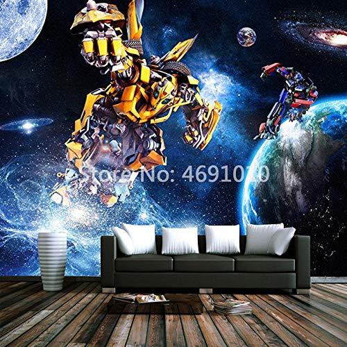 MINCOCO Custom Boy 'Room Transformers 3 D Fototapeten Wohnzimmer 3D Setero Raum Papel De Parede 3D Wandbild Tapeten @ 430x300cm