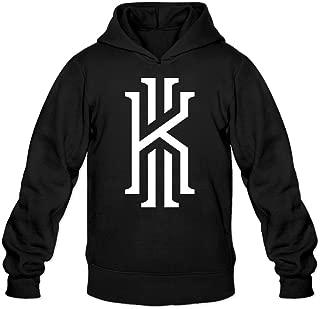 YQUE Men's Kyrie K Logo Irvi #2 Basketball Hoodies Sweater Black