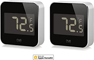Eve Degree Weather Station for tracking temperature, humidity & air pressure, IPX3 water resistance, LCD display, Bluetooth Low Energy, black (Apple HomeKit) (Renewed)