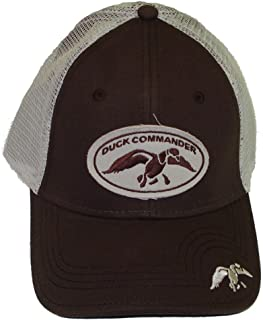 Brown Mesh Fitted Hat