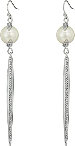 Pearl and Crystal Linear Spear Earrings