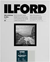 """Ilford Multigrade IV RC Deluxe Resin Coated VC Variable Contrast Black & White Enlarging Paper - 8x10"""" - 25 Sheets - Pearl..."""