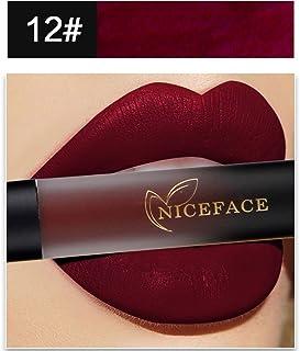 88AMZ Pintalabios Terciopelo Mate Larga Duracion Labiales de Maquillaje Profesional 18 Colores para Niñas y Mujer