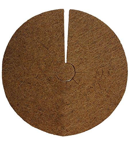 Protection plantes disque de paillage en fibres, coco disque protection d'hiver pour plantes en pot 38 cm