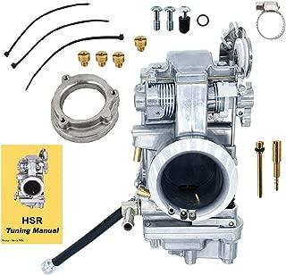 Polished Smoothbore Carburetor HSR45 45mm Carb HD MK EVO Twin Cam TM45 Electra Glide Road King Heritage Softail Fat Boy Softail