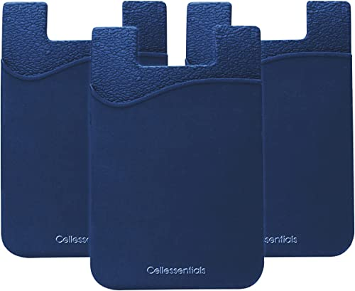 USA Merchant - Cellessentials Redesigned Card Holder - Silicone Stick on Cell Phone Wallet with Pocket for Credit Car...