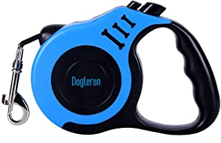 DOGLERON Retractable Dog Leash 5M, Automatic Comfortable Long Dog Leash for Pet Training,Walking,Running, Suitable for Sma...