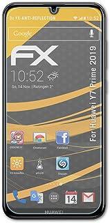 atFoliX Skärmskydd är kompatibel med Huawei Y7 Prime 2019 Skyddsfilm, antireflekterande och stötdämpande FX Film (3X)