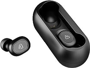 گوشواره بی سیم Dudios Bluetooth 5.0 ، هدفون بی سیم Zeus Air True Wireless هدفون بی سیم هدفون در گوش (کنترل یک دکمه ، تماس دو گوشه ، 4 ساعت موسیقی ، جفت گیری خودکار) -بلاک