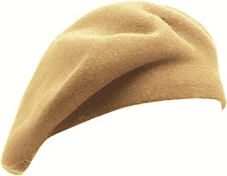 French Beret Hat,Reversible Solid Color Cashmere Beret Cap for Womens Girls Lady Adults by Wheebo