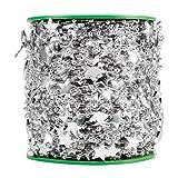 ストリングガーランド、DIYスターフェイクパールウェディングデコレーション、プラスチック3.9x3.9x3.9インチクリスマスバレンタインの装飾用(Silver five-pointed star)