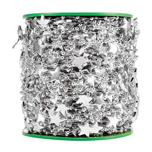 Yosoo Golden Silver Thread Beads DIY Bridal Headgear Holding Flowers Connecting Beads DIY Artificial Pearl Beaded String Garland Christmas Tree Wedding Banquet Bouquet Decoration(02)
