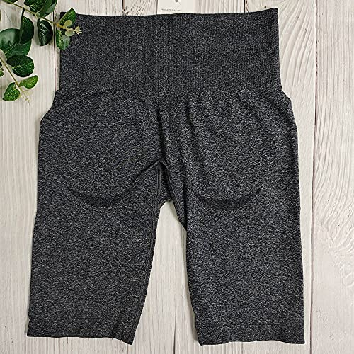 Lanrui Spectacle Gym Shorts Leggings Entraînement Court Fitness Femme Sport Short Summer Taille High Yoga Short Squat Short Shorts Leggins (Color : Dark Grey Shorts, Size : S)